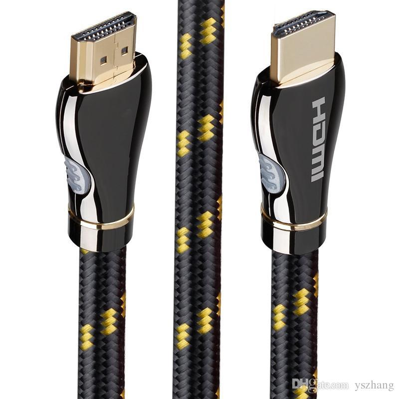 Cabos de vídeo HD Cabo HDMI banhado a ouro 2.0 4 K 3D 60FPS Cabo para HDTV splitter switcher LCD Laptop Para PS3 Cabo Projetor