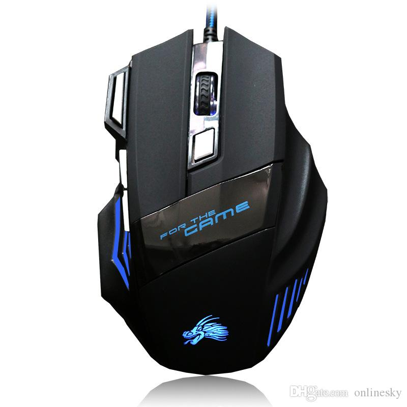 Professional 5500 DPI Gaming Mouse 7 Buttons LED Optical USB Wired Mice for Pro Gamer Computer X3 Mouse PUBG LOL