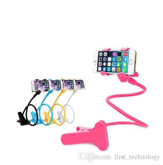 Car Phone holder Universal Long Arm Lazy Mobile Phone Gooseneck Stand Holder Flexible Bed Desk Table Clip Bracket For iphone samsung