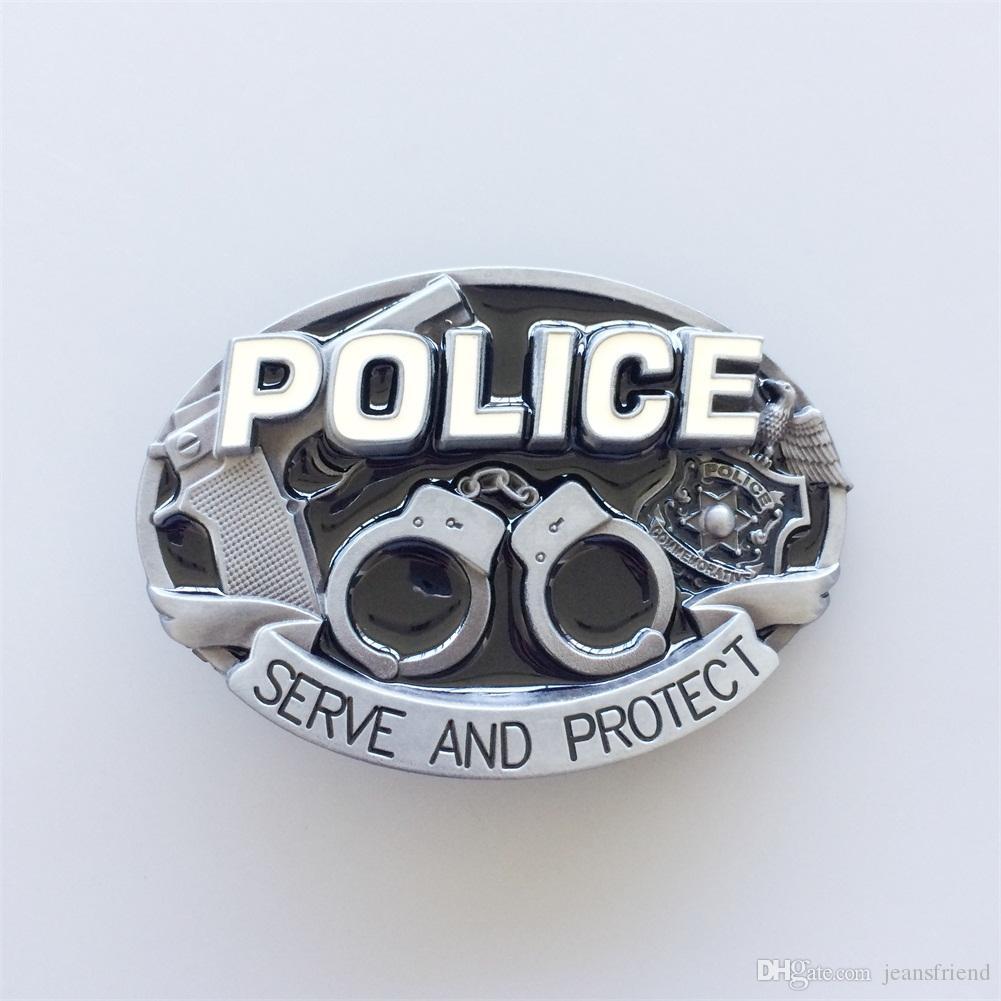 New Vintage Enamel Hero Law Enforcement Belt Buckle Gurtelschnalle Boucle de ceinture