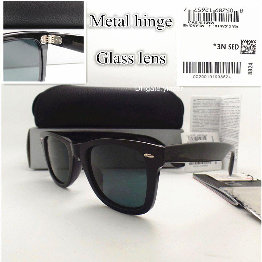 Glass Lens Sunglasses For Men Women Brand Designer Mercury Unisex 52MM Eyewear UV400 Plate Hinge Italy Sun Glasses With Case Box