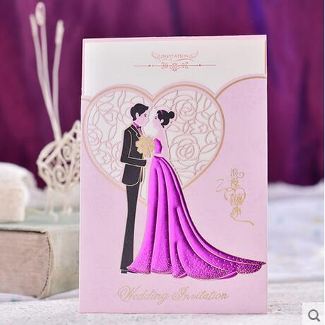 Customization Pink Wedding Invitation Card Bride And Groom Engagement Invitations Card Holiday Card Holiday Cards From Ilexer 66 14 Dhgate Com