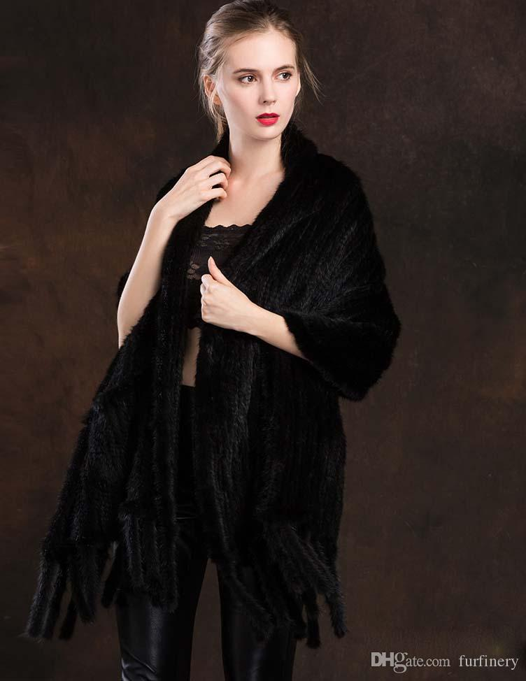 Fashion real mink fur scarves/wraps/cape women/ dark brown/black/wine red