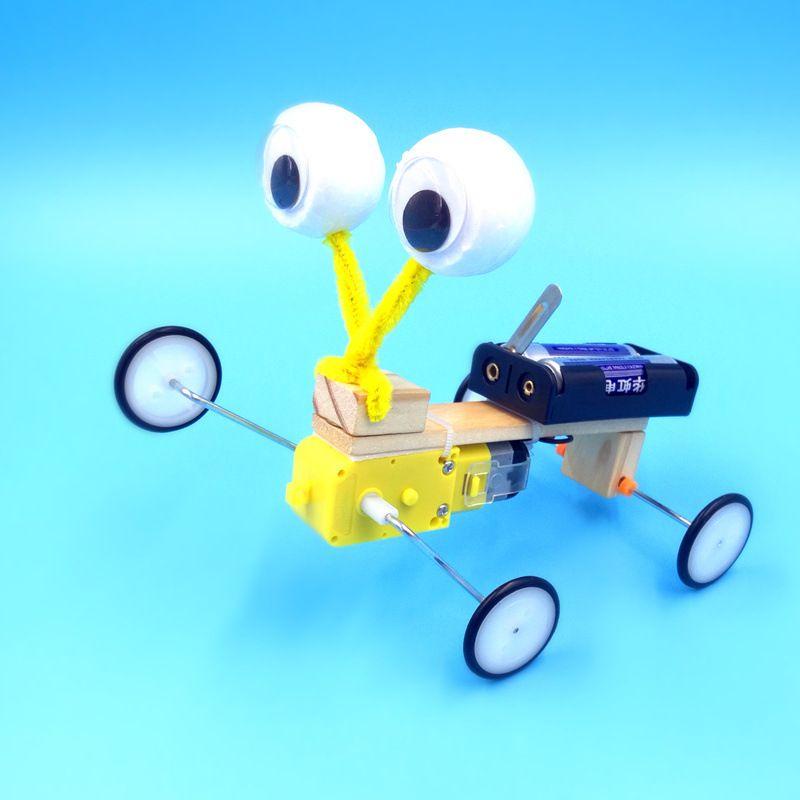 наука и техника малое производство малое изобретение научный эксперимент ручная электрическая модель гусеничный сборочный робот