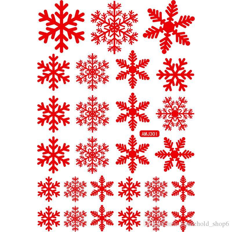 Noel Elektrostatik Kağıt kesti Set Çıkartmalar Yaratıcı Kar Tanesi Duvar Çıkartmaları Yeni Yıl Pazar Otel Ev Pencere Dekora ...