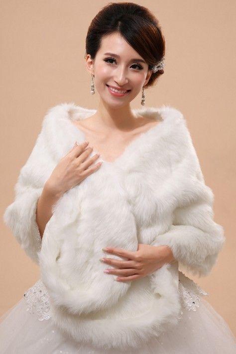 Neue Stil Kaninchenohren Stil Langer Plüsch Faux Pelzschal Mode Weiche Tücher Braut Wraps Jacken Hochzeitszubehör Shuoshuo6588