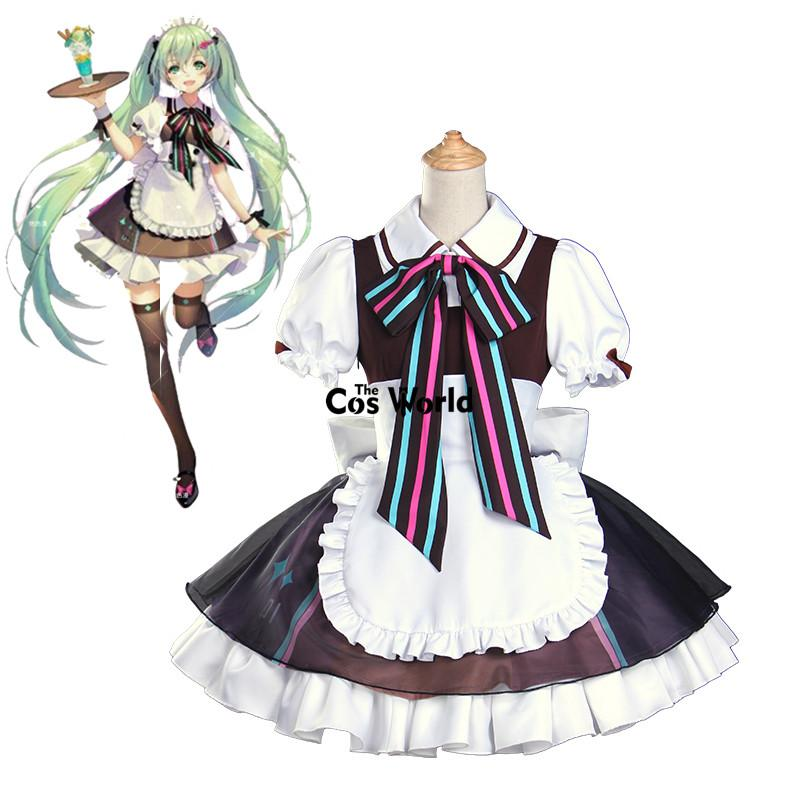 Hatsune Miku Christmas Outfit.Accessories Cosplay Costumes Vocaloid Hatsune Miku Cafe Lolita Maid Apron Dress Uniform Outfit Anime Cosplay Costumes Halloween Theme Pet Costumes
