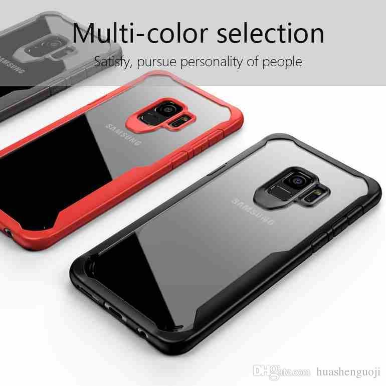 Samsung Galaxy için s9 s9 Artı Yumuşak TPU Şeffaf şeffaf Kapak Samsung A8 A7 A7 için Darbeye Artı iPhone x 8 8 Artı