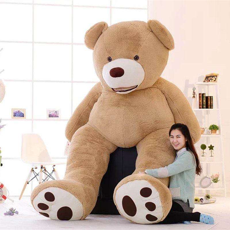 1шт прекрасный огромный размер 130 см США гигантский медведь кожа плюшевый мишка корпус высокое качество оптовая цена продажи подарок на День Рождения для девочек ребенка