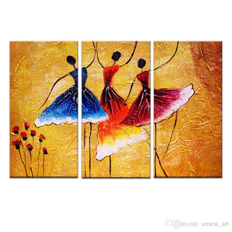 3 Picture Combination Paintings on Canvas Contemporary Art Abstract- Paintings Wall Decorations Paintings For