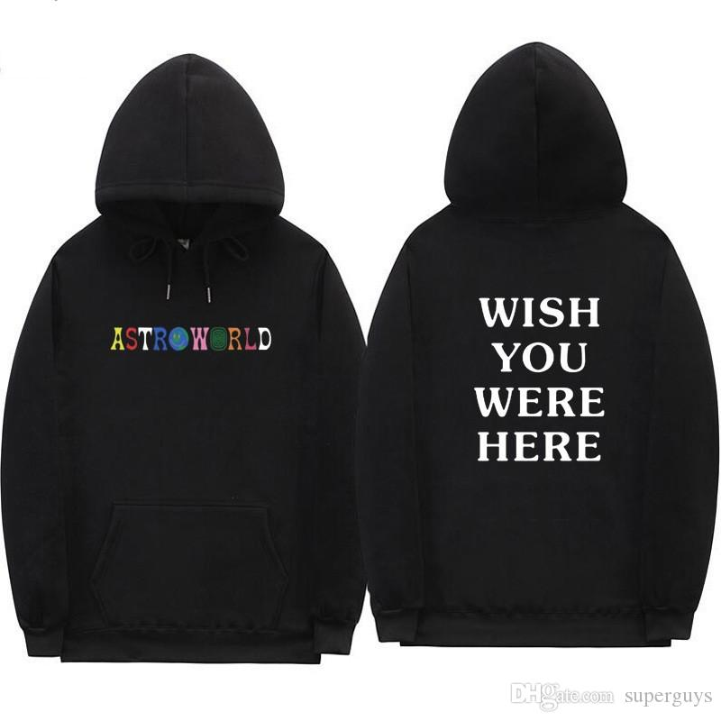 Travis Scott Astroworld VEUILLEZ VOUS ARRIVER ICI hoodies streetwear homme et femme pull sweat-shirt W2089