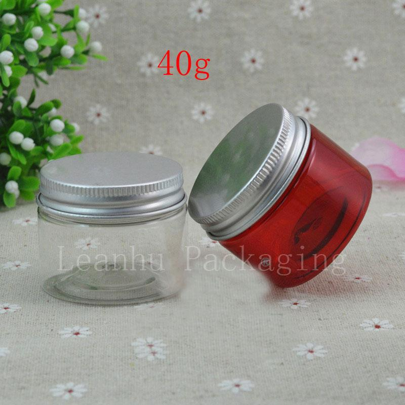 40g X 40 red / clear color cream Plastic Makeup jar container ,Empty Cosmetic bottles ,acrylic for cosmetics
