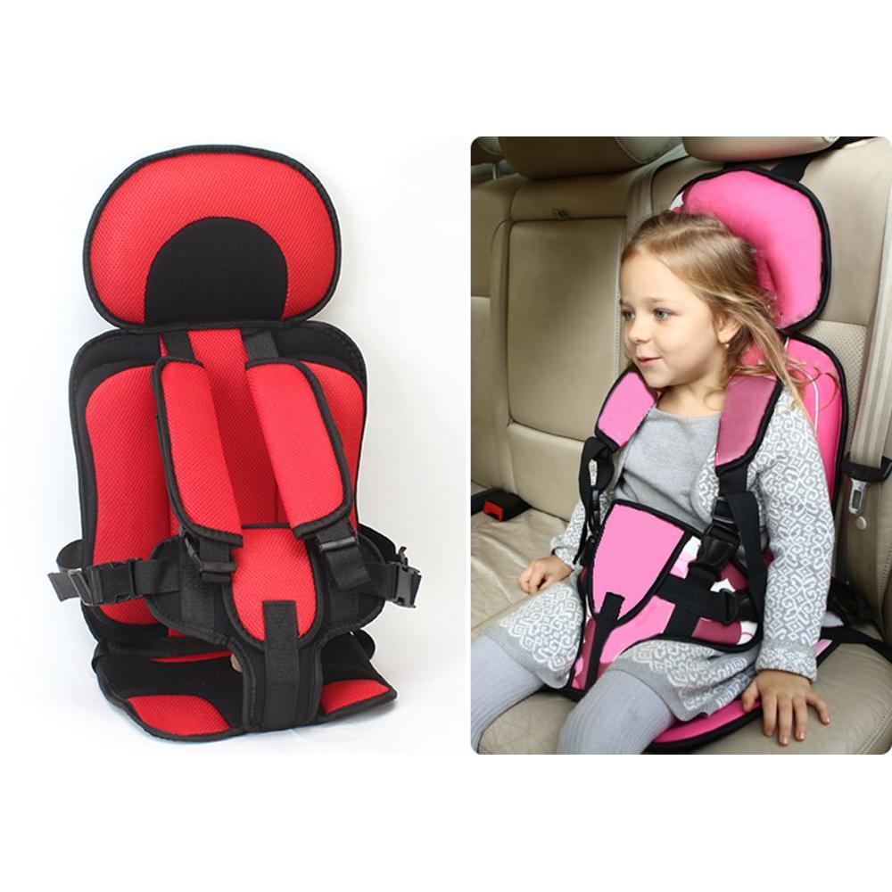 어린이 의자 쿠션 유아 안전 자동차 시트 휴대용 업데이트 버전 두꺼운 스폰지 어린이 5 포인트 안전 장치 차량 시트