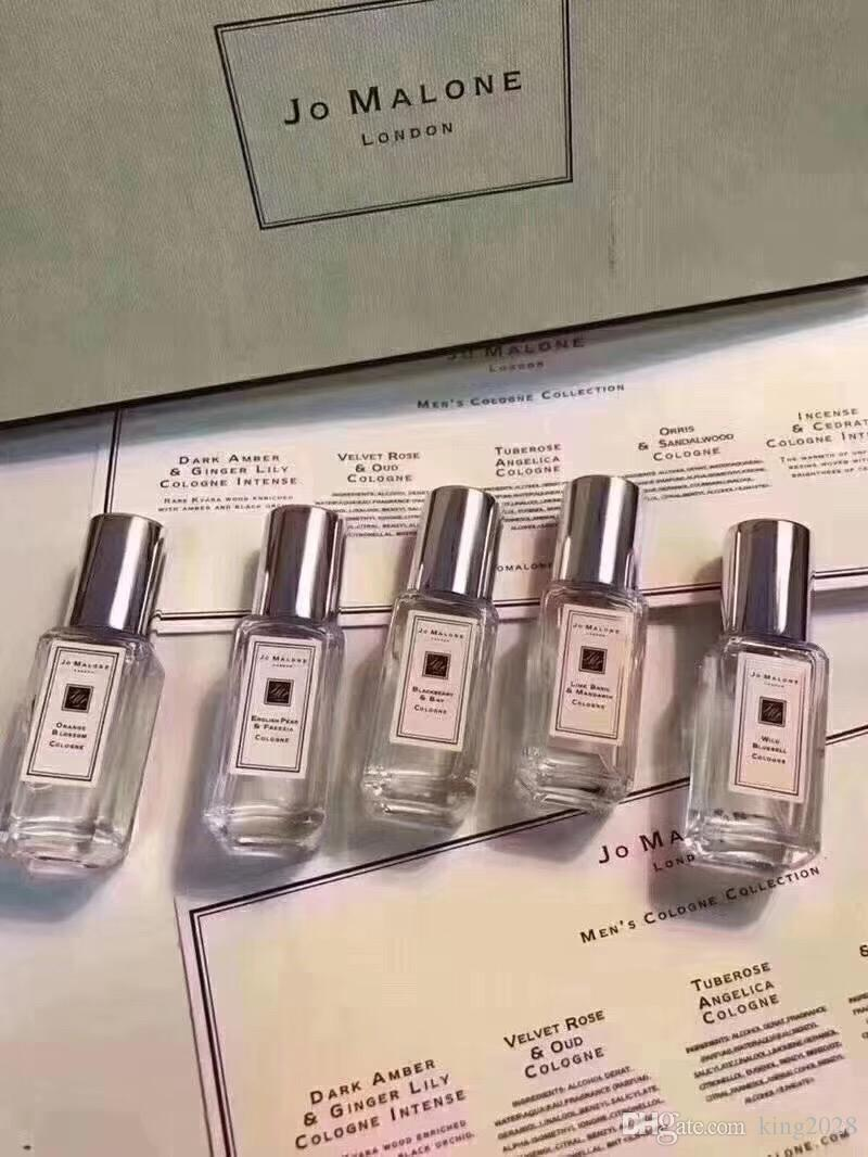 New released Jo London Spray Perfume 5 smell type perfume 9ml*5 Long Lasting Smell Fragrance epacket for free shipping