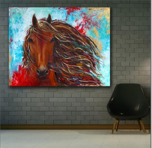 Large size Printing Oil Painting Fashion Abstract Animal horse wall art canvas prints pictures for living room and bedroom