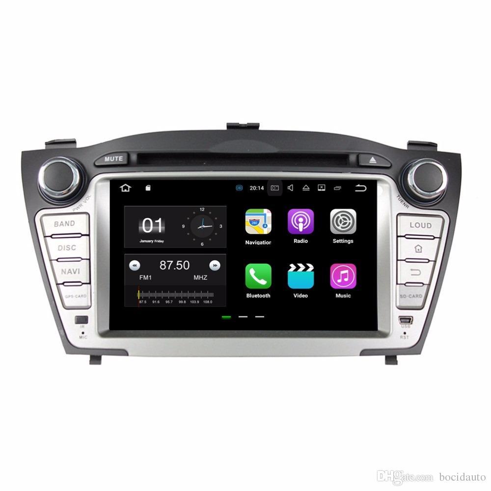 """أندرويد 7.1 رباعية النواة 7 """"راديو السيارة دي في دي GPS سيارة الوسائط المتعددة سيارة دي في دي لشركة هيونداي IX35 توكسون 2009-2015 مع بلوتوث واي فاي USB مرآة رابط"""