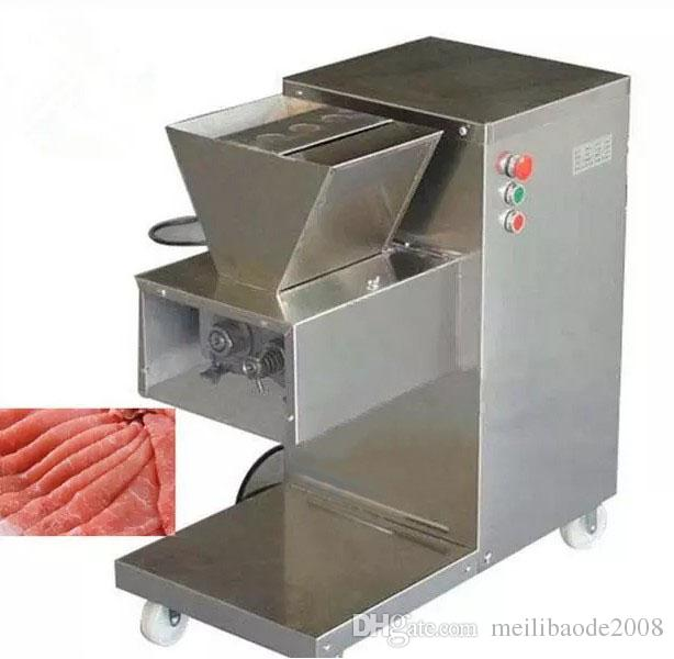 Free shipping 110/220/380v QW meat cutting machine,meat slicer,meat cutter,800kg/hr meat processing machine LLFA