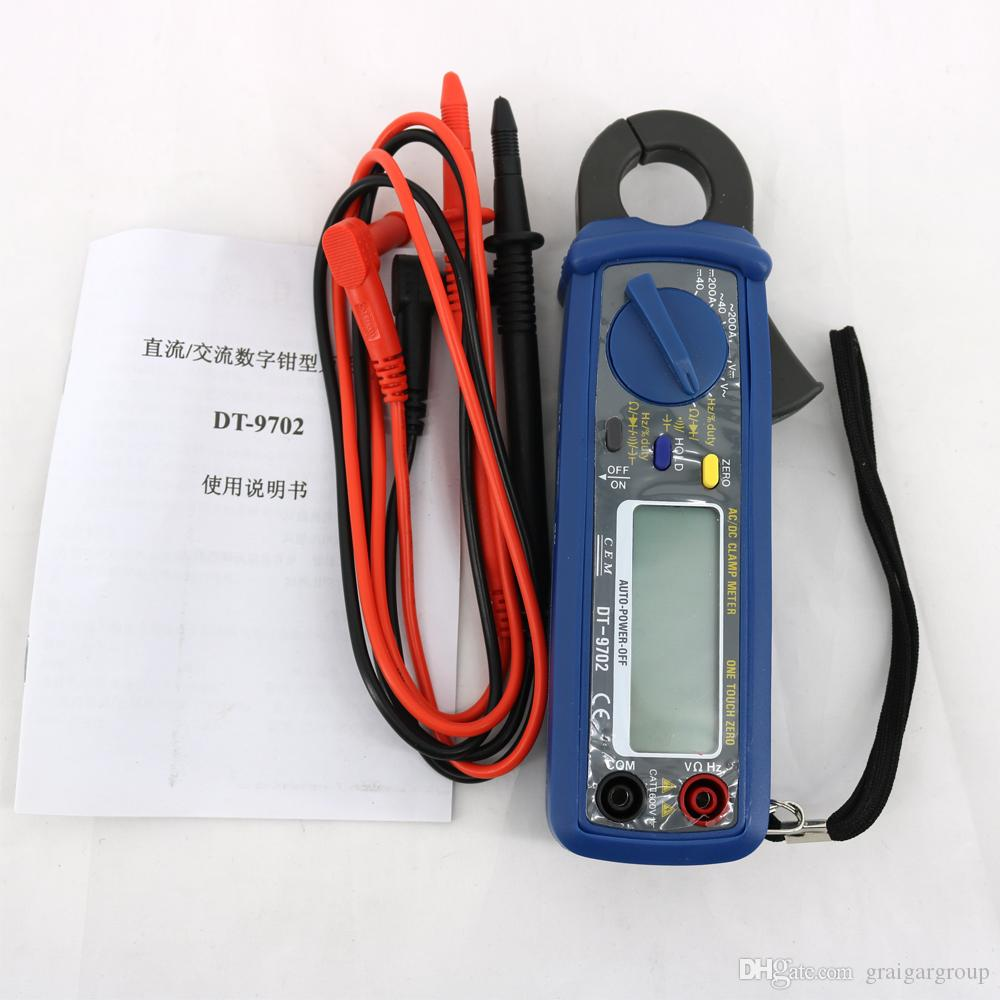 DT-9702 Professional AC DC Automotive Clamp Multimeter Tester Apable of Auto Switch Off & Power Low Display