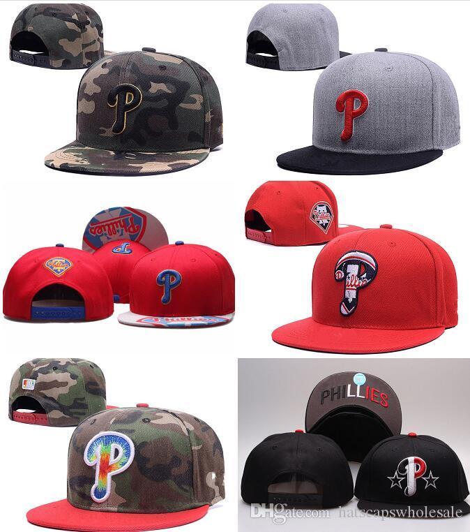 Wholesale Cheap Snapback Cap In Baseball Brands Popular Hip Hop Flat Summer PhilliesAdjustable Hat Embroidered Logo Sport Hats Men's