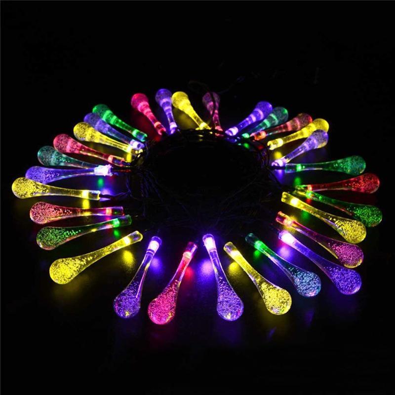 Lampe à LED solaire lampe à eau solaire étanche en plein air lumières de Noël suspendues arbre clignotant lumières