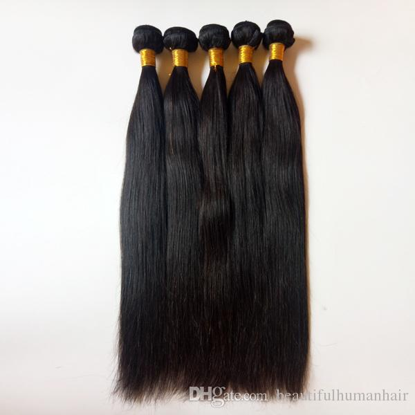 Malaysian Brazilian Virgin Hair weaves 8-28inch Natural black Straight High quality hair 3 4 5pcs Peruvian Indian remy Human Hair extensions
