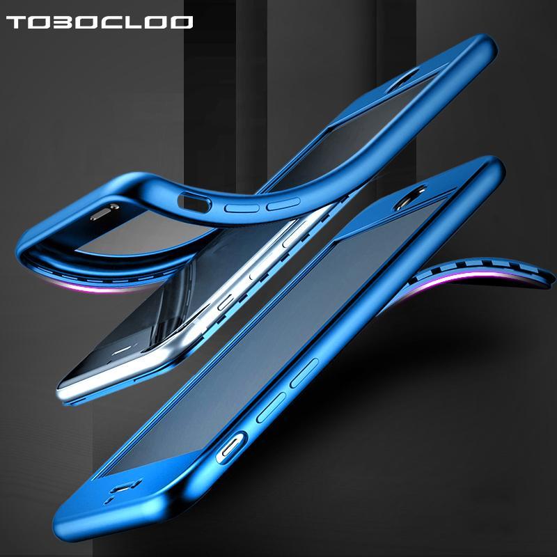 360 Cuerpo completo Delantero + trasero Cubierta de TPU suave Cubierta de gel transparente para Apple iPhone 5 5s SE 6 6s 6 Plus 6s 7 8 Plus X Funda