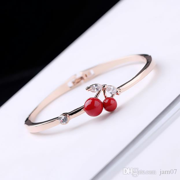 Bangle Elliptical Girl's Literary Birthday Gift Bracelet With Natural Zircon Stainless Steel Fashionable Ladies A Variety Of Styles