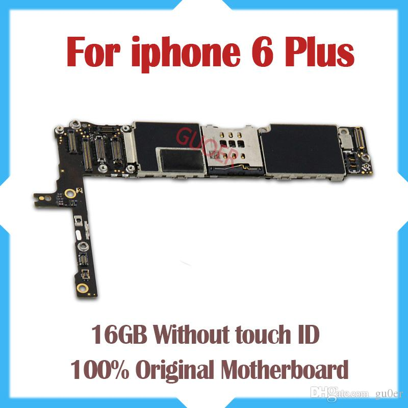 100% Good Working,16gb Original Unlocked for iphone 6 plus Motherboard without Fingerprint Function by free Shipping