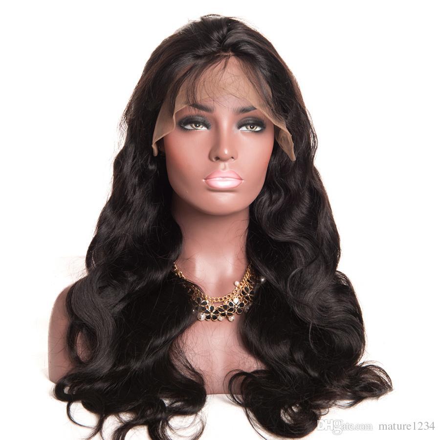 8A Full Lace Human Hair Wigs For Black Women Brazilian Wigs Silk Top Wavy Glueless Lace Front Human Hair Wigs