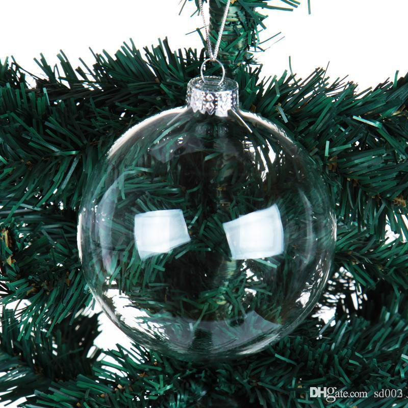 Christmas Decorations Blowing Balls Transparent Hollow Clear Glass Ball Tree Party Ornament Small Exquisite With Different Size 1 95ml cc