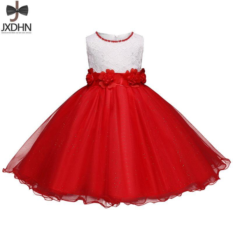 Compre Vestido De Niña De Flores Vestido De Graduación Para Niños Vestido Elegante Para Niños Pequeños Vestido De Novia Vestido Nupcial De Noche
