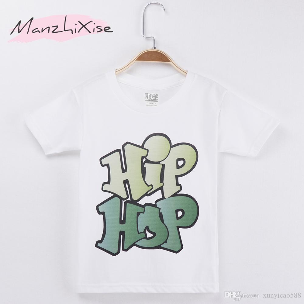 Acheter 2018 Populaire Enfants T Shirt Hiphop