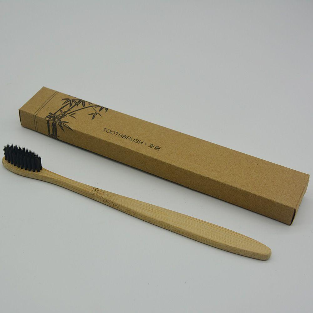 HOT Ecologico Spazzolino in legno Spazzolino in bambù Fibra di bambù morbida Manico in legno A basso tenore di carbonio Ecologico Per adulti Igiene orale