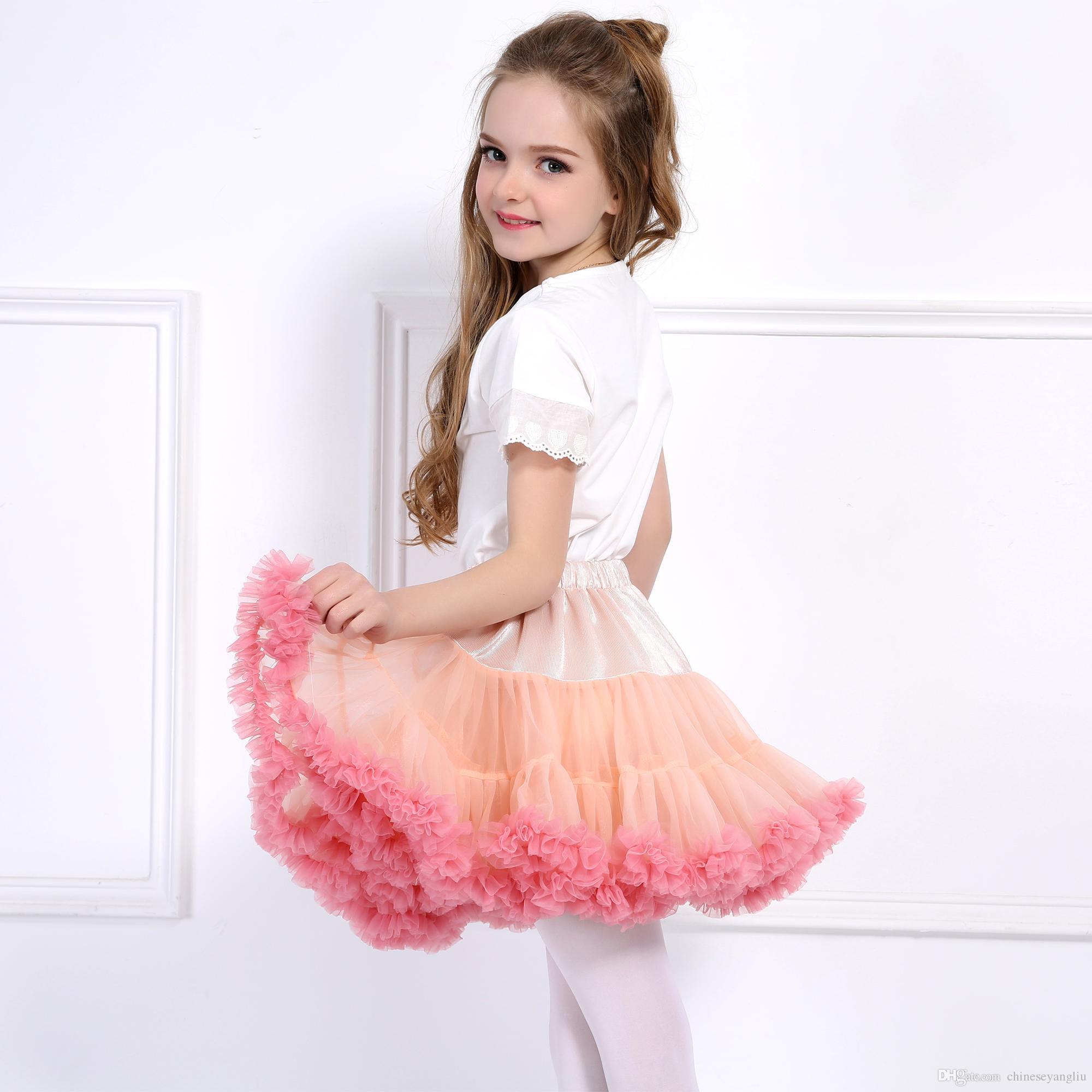 9f0eca493 Baby Girls Tutu Skirt Fluffy Children Ballet Kids Pettiskirt Baby Girl  Skirts Princess Tulle Dance Party Skirts