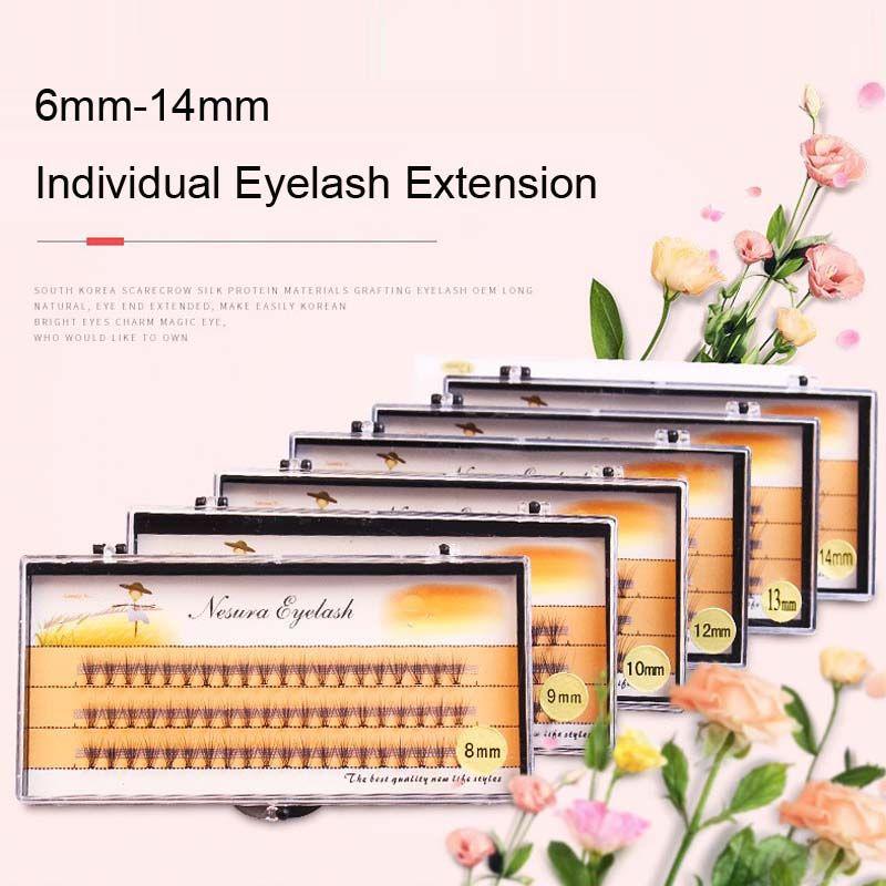 High quality Charming 10D Silk False Eyelashes Extensions Makeup Individual Cluster Eye Lashes Grafting Fake False Eyelashes