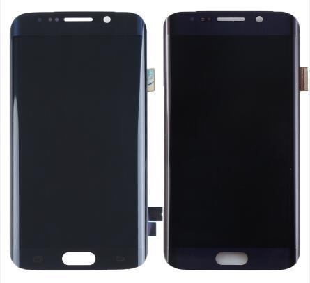 Preto / azul para samsung galaxy s6 borda sm-g925f g925 g925f g920v display lcd digitador da tela de toque de peças de montagem