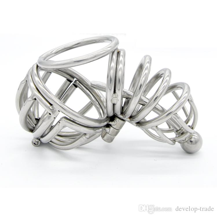 Acciaio per adulto Adulto Acciaio Acciaio Corto Gabbia gay Tubo gay Cage Ball Cage Nuova Chastity Fetish Sex Device Device Toys A071Jouets Adulti Adulti Sexy Sexuelstoy NPep