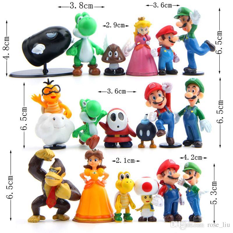 Acheter Set Super Mario Bros 2 Mario Luigi Champignon Crapaud