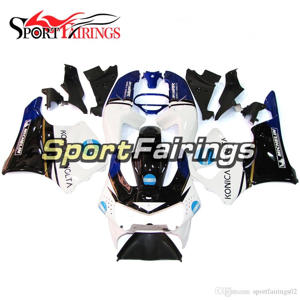 Blanco Negro Azul Nuevos carenados para Honda CBR900RR 919 1998 1999 98 99 Año CBR900 RR Cubiertas de plástico ABS Carrocería Nuevos cascos Paneles Kits