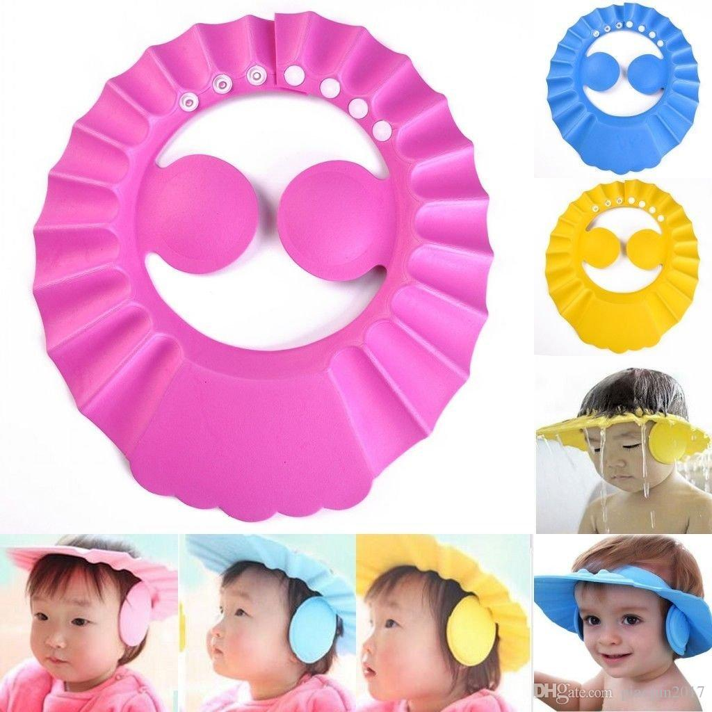 UK Kids Baby Child Adjustable Soft Waterproof Shield Shampoo Shower Bath Hat Cap