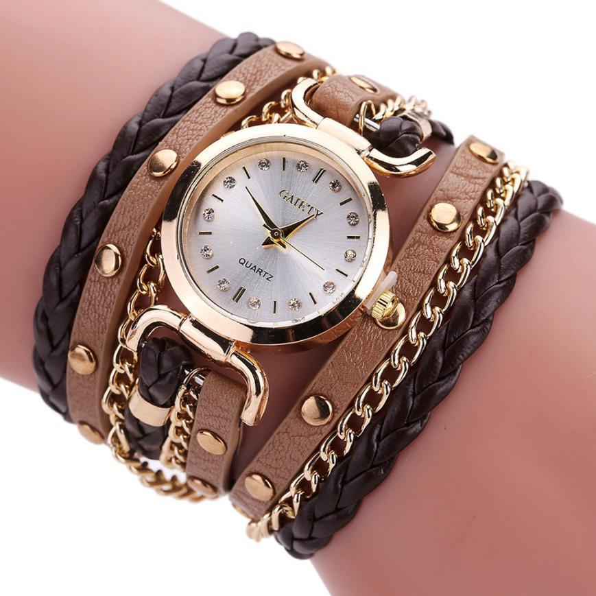 Compre Reloj De Pulsera Para Mujer Relojes Mujer Vintage Weave Wrap Cuarzo Pu Relojes De Pulsera De Cuero Kol Saati Reloj Relogio Feminino A 2 9 Del E6241163 Dhgate Com