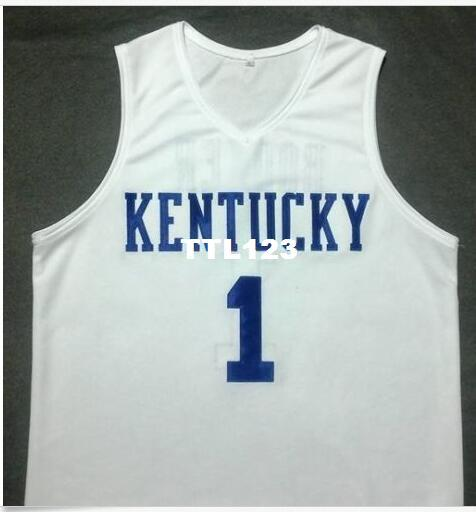 reputable site 3d3fb 6b283 2019 Men DEVIN BOOKER #1 Kentucky Wildcats White College Vintage Jersey  Size S 4XL Or Custom Any Name Or Number Jersey From Ttl123, $35.44 | ...