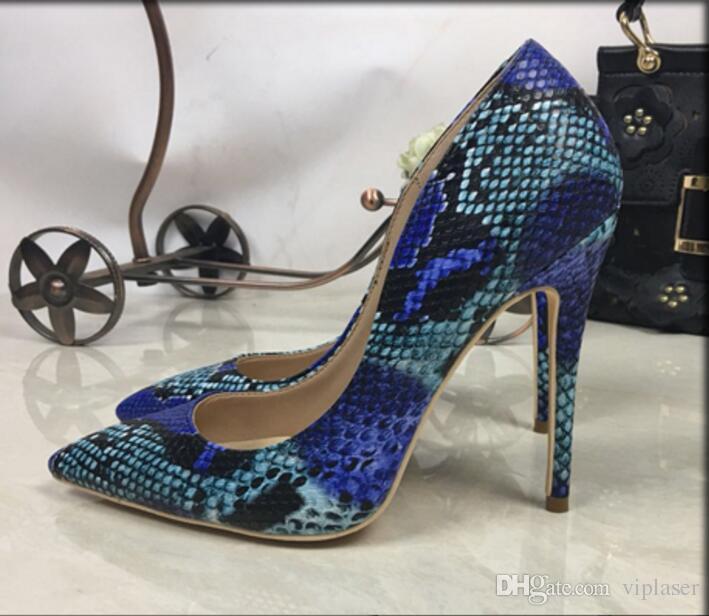 بيع بسعر منخفض pricebona fide 2018 حذاء امرأة جديدة المطبوعة النساء أحذية مثير 12cm الكعب العالي مضخات وأشار أحذية السيدات حفل زفاف