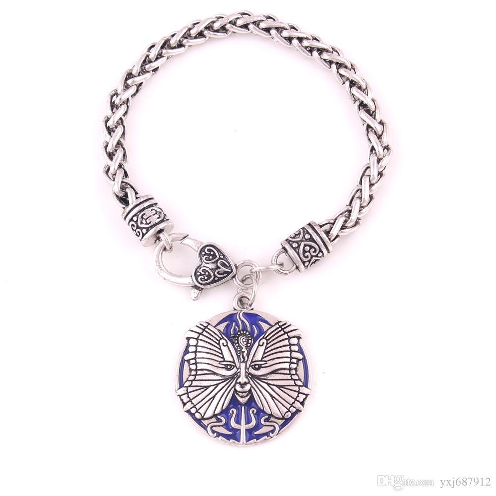 PSYCHE Pendentif Déesse ÂME Neptune Amulette Charme Chaîne De Blé Bracelet Religion