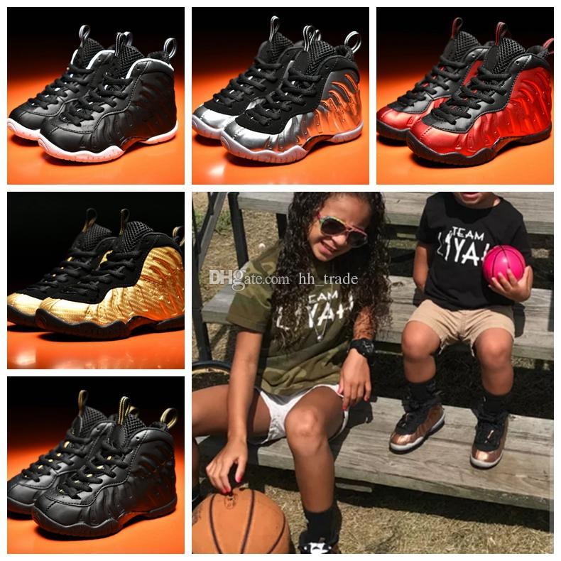 2018 kids penny hardaway basketball shoes foam one pro kids designer shoes sneakers youth boys girls shoes girls kids sneakers birthday gift