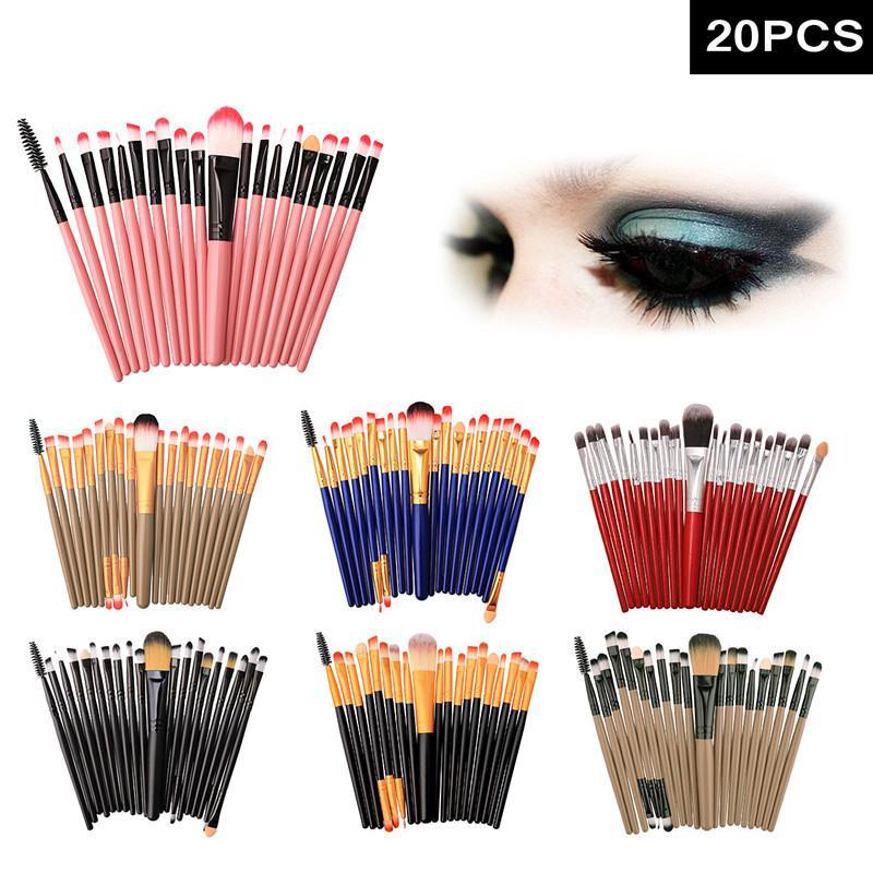 ferramentas de escovação 20 maquiagem ferramentas de maquiagem corar sombra de olho escovar fabricante modelo de vendas diretas