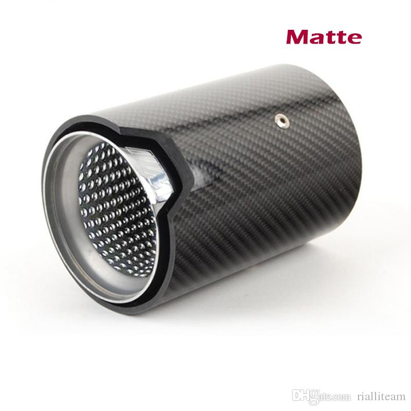 Wholesale 66mm 73mm Inlet 93mm Outlet Exhaust Tip Carbon Fiber Car Exhaust Pipe Tail Muffler Tip for BMW M2/M3/M4