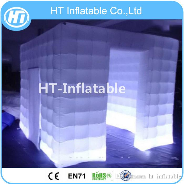 Free Shipping Inflatable Photo Booths LED Lights Air Photobooth/ Tent Walls Custom Portable Lighting Cube /Inflatable Photo Booth