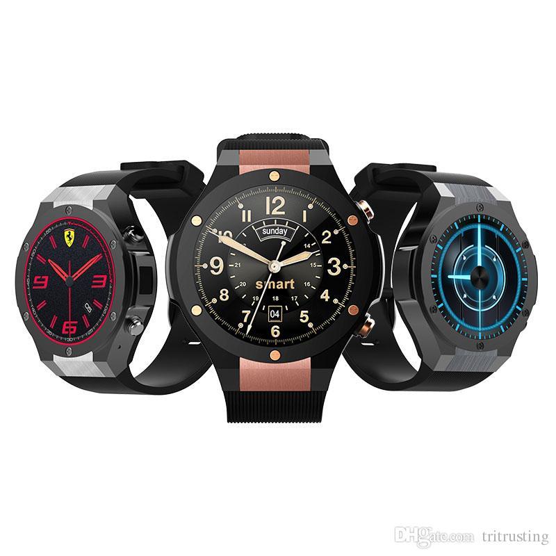 Microwear H2 android ios 1G+16GB Smart watch 1.39 inch mtk6580 SmartWatch phone 3G wifi GPS 5M heart rate nano SIM GSM WCDMA PK QW09 Retail