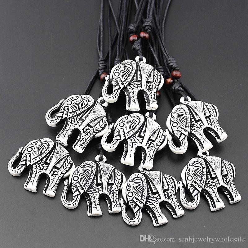 Wholesale Jewelry Wholesale Imitation Yak Bone Carved Tibetan Lucky White Elephant Pendant Necklace Amulet Gifts For Men Women Mn150 White Gold Necklace Diamond Pendant Necklace From Senhjewelrywholesale 8 88 Dhgate Com